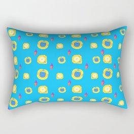 yellow substances in a blue matter Rectangular Pillow