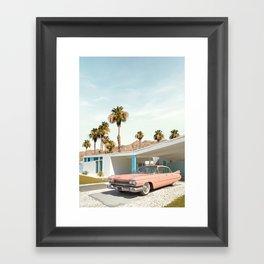 Palm Springs Classic Car Framed Art Print