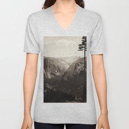 Vintage Yosemite Valley, California, ca. 1865 Unisex V-Neck
