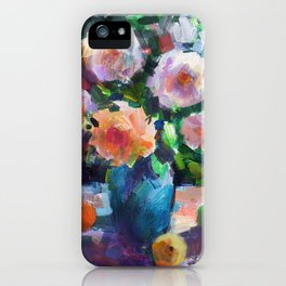 Roses and Fruits iPhone Case
