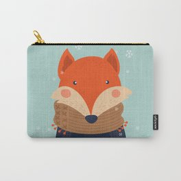 Fox Under Snow in the Christmas Time. Carry-All Pouch