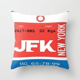Bag Tag - JFK Throw Pillow