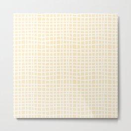 coconut cream thread random cross hatch lines checker pattern Metal Print