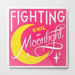 Fighting Evil Metal Print