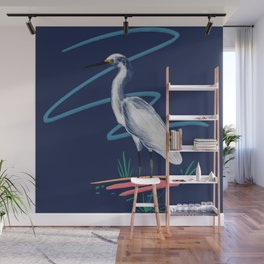 Egret on the Bayou Wall Mural