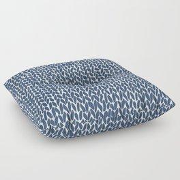 Hand Knit Navy Floor Pillow
