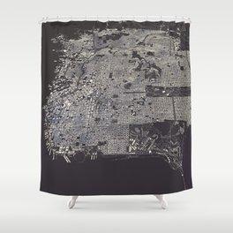 San Francisco City Map Shower Curtain