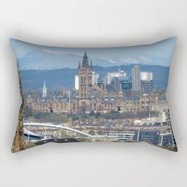 Glasgow University and Ben Lomond Rectangular Pillow