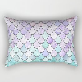 Mermaid Pastel Pink Purple Aqua Teal Rectangular Pillow