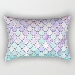 Mermaid Pastel Pink Purple Aqua Teal Rectangular Pillow