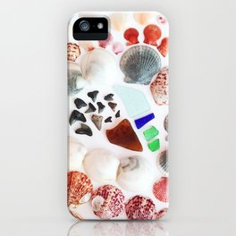 Shark Teeth and Sea Glass iPhone Case