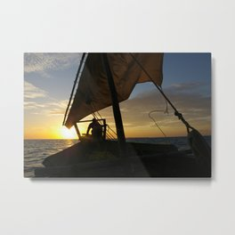 Zanzibar Sunset Metal Print