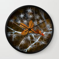 sparkle Wall Clocks featuring Sparkle by Heidi Fairwood