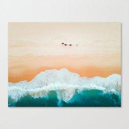 Camel Walk on the Beach Canvas Print