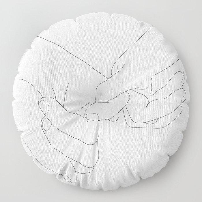 Pinky Promise Floor Pillow