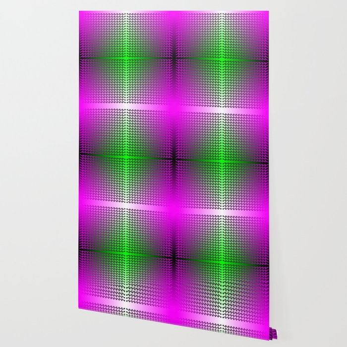 Purple Arrows Pointing into Ombre Green