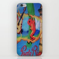 puerto rico iPhone & iPod Skins featuring Puerto Rico Oil painting Prints  by Huesca Arts by Yolanda Huesca