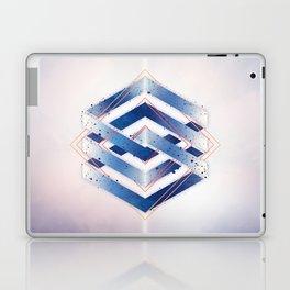 Indigo Hexagon :: Floating Geometry Laptop & iPad Skin