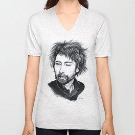 Thom Yorke [Radiohead] Unisex V-Neck