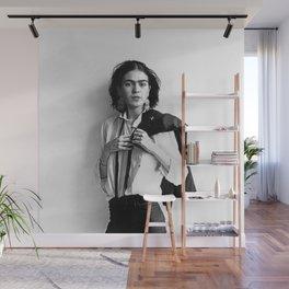 Frida Kahlo Wearing White Shirt Photo Art Poster Print Wall Mural