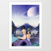 Titan's Oreads Art Print