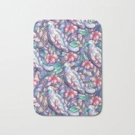 cockatoo pattern Bath Mat