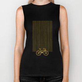 Yellow Bike by Friztin Biker Tank