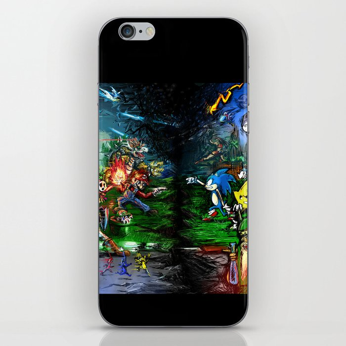 Nintendo Vs Sega iPhone Skin