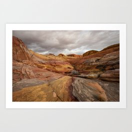 Canyon Overlook - Valley_of_Fire_State_Park, Nevada Art Print