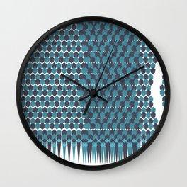 Cubist Ornament Pattern Wall Clock