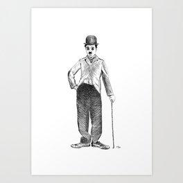 Charlie Caplin Art Print
