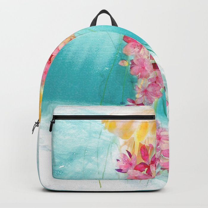 Jellyfish with Flowers Backpack