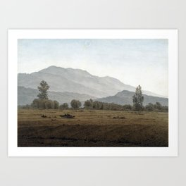 Caspar David Friedrich New Moon above the Riesengebirge Mountains Art Print