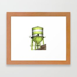 Montreal's Water Tower (Lachine Canal) Framed Art Print