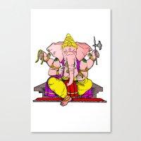 hindu Canvas Prints featuring Hindu god by American Artist