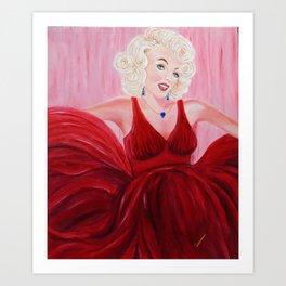 Dazzling Marilyne | Éblouissante Marilyne Art Print