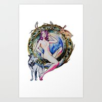 Nature Goddess Art Print