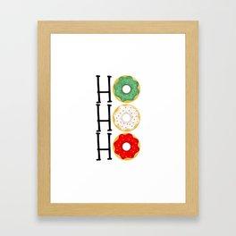 Ho Ho Ho - Holiday Donuts Framed Art Print