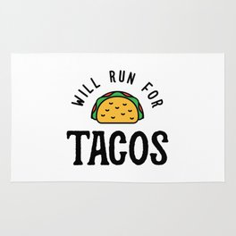 Will Run For Tacos v2 Rug