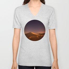 Desert Sunset & Stars In The Sky Unisex V-Neck