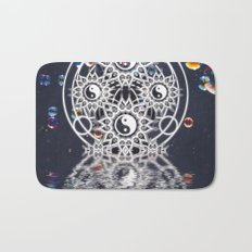 Yin Yang Symmetry Balance Reflection Bath Mat