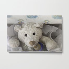 teddy bear surprise Metal Print