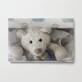 teddy bear surprise Metal Print