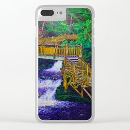 Stairs at Bushkill Falls Clear iPhone Case