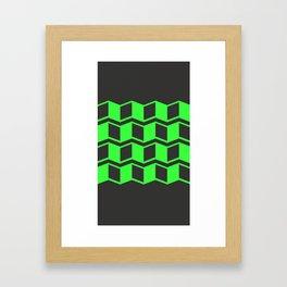 Jagged Green Framed Art Print