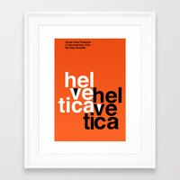 helvetica Framed Art Prints featuring Helvetica by Axellvak