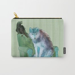 animals in chars #3 The Wolf and the Raven Carry-All Pouch