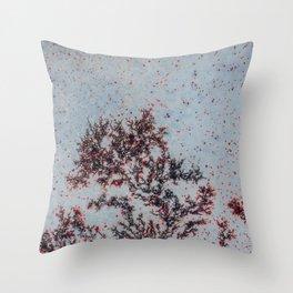Sakura Moss Agate Throw Pillow