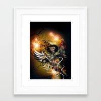 satan Framed Art Prints featuring Satan by The Sastra