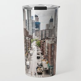 New York City Skyline (Brooklyn, Queens, Manhattan) Travel Mug